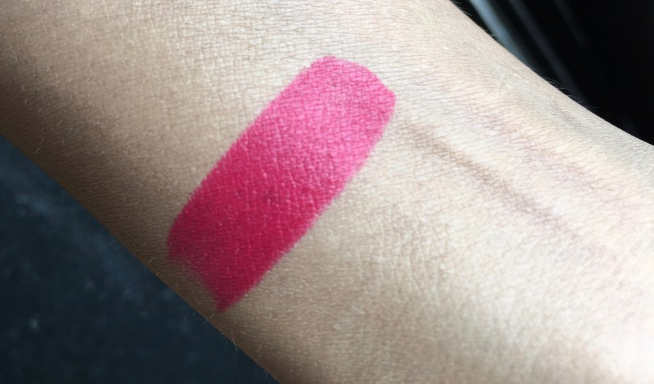 Maybelline Color Show Big Apple Red Creamy Matte Lipstick Pink My Red Review swatches