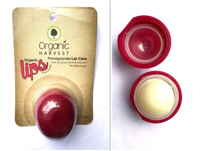 Organic Harvest Pomegranate Lip Care Balm Review mbf beauty blog