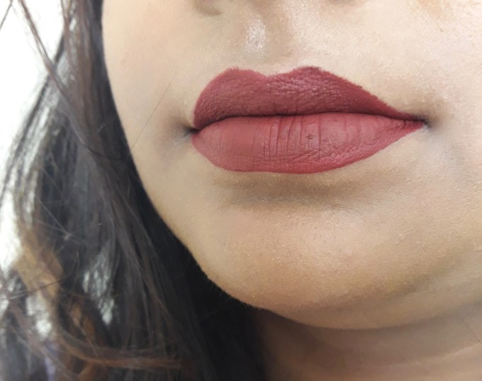 BH Cosmetics Matte Liquid Lipstick Lust Review Swatches on lips