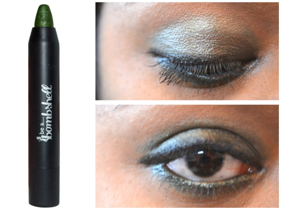Be A Bombshell Eye Shadow Crayon Shade High Roller eye makeup look