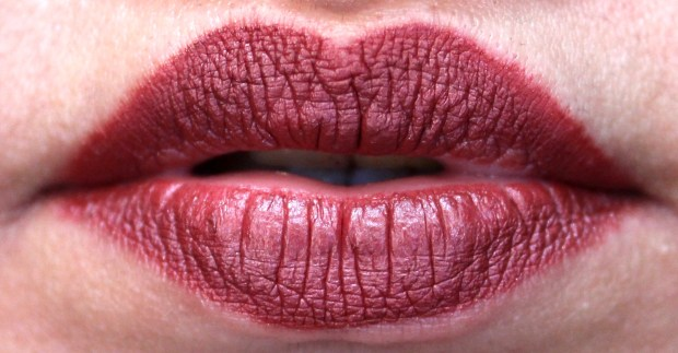 Dose of Colors Matte Liquid Lipstick Brick Review Swatches After 2 to 3 hours