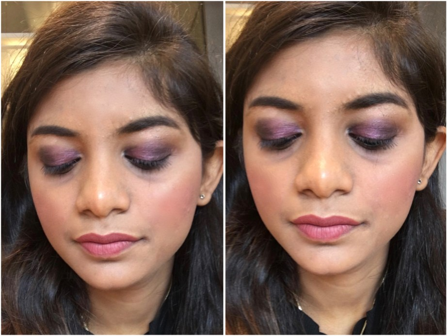 Faces I Shine Eye Shadow Quartet Purple Review Swatches MBF Eye Makeup Look