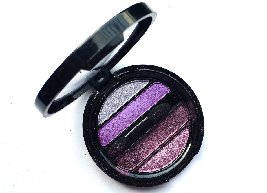 Faces I Shine Eye Shadow Quartet Purple Review Swatches mbf blog