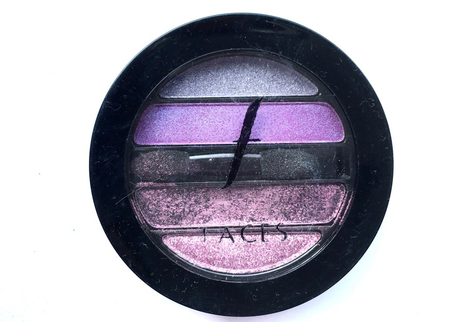 Faces I Shine Eye Shadow Quartet Purple Review Swatches mbf