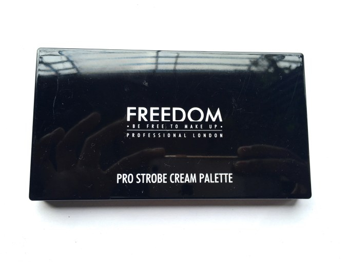 Freedom Pro Cream Strobe Palette with Brush Review Swatches packaging
