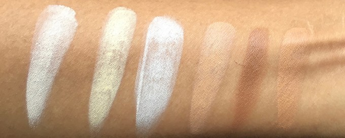 Freedom Pro Cream Strobe Palette with Brush Review Swatches on hand