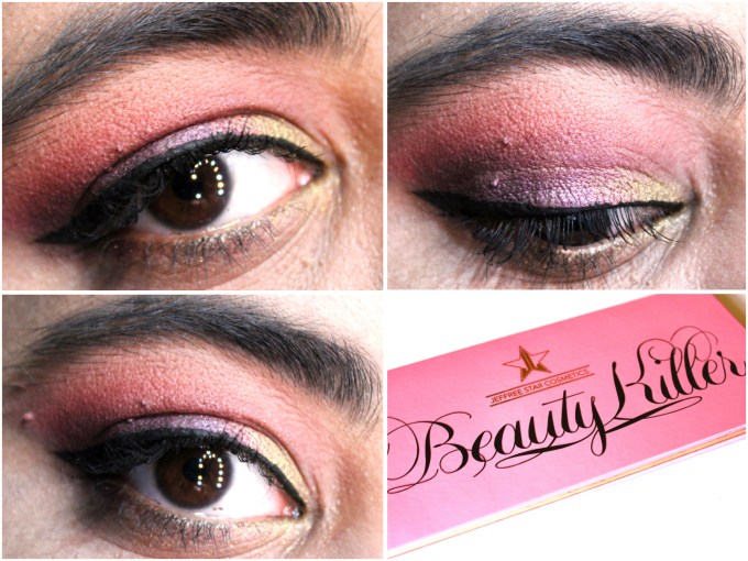 Jeffree Star Beauty Killer Palette Review Swatches MBF Eye makeup Look