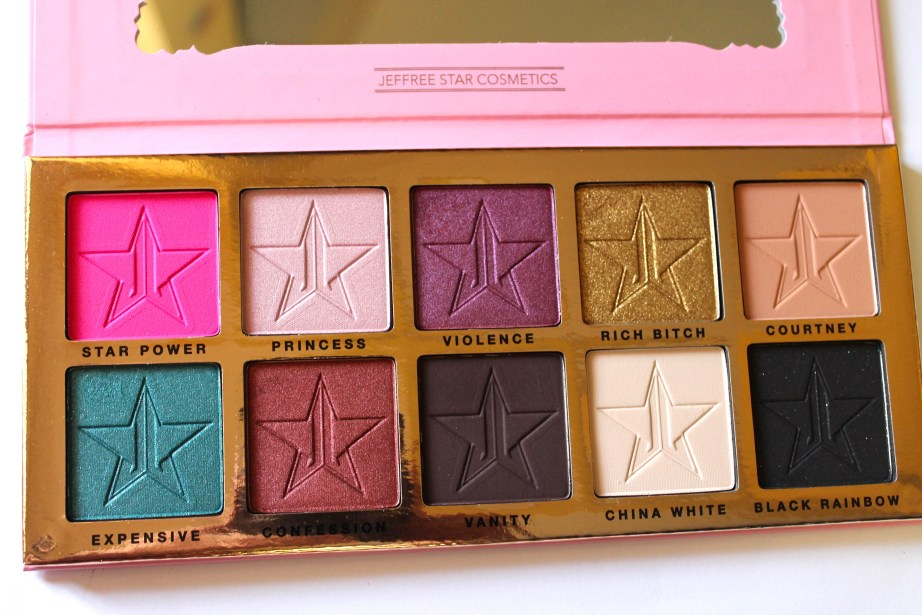 Jeffree Star Beauty Killer Palette Review Swatches Close Up