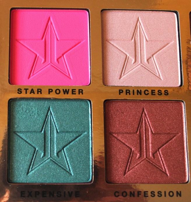 Jeffree Star Beauty Killer Palette Review Swatches quad 1
