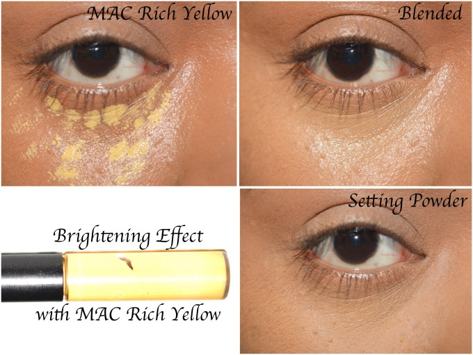 MAC Studio Conceal and Correct Duo Review Swatches Demo yellow color correct tutorial