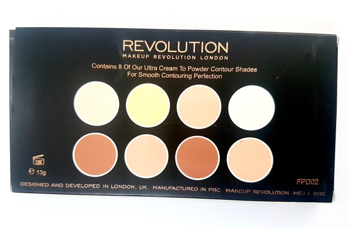 Makeup Revolution Ultra Cream Contour Palette Review Swatches box back