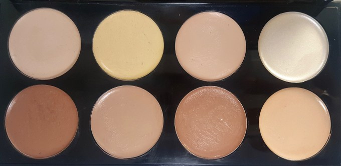 Makeup Revolution Ultra Cream Contour Palette Review Swatches