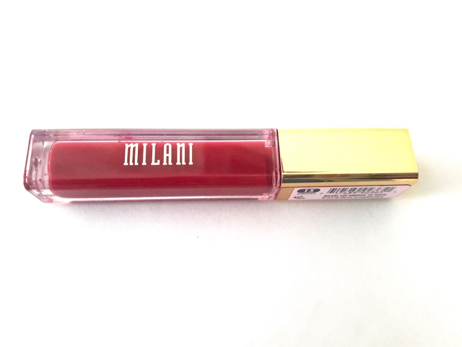 Milani Amore Matte Lip Creme Gorgeous Review Swatches tube