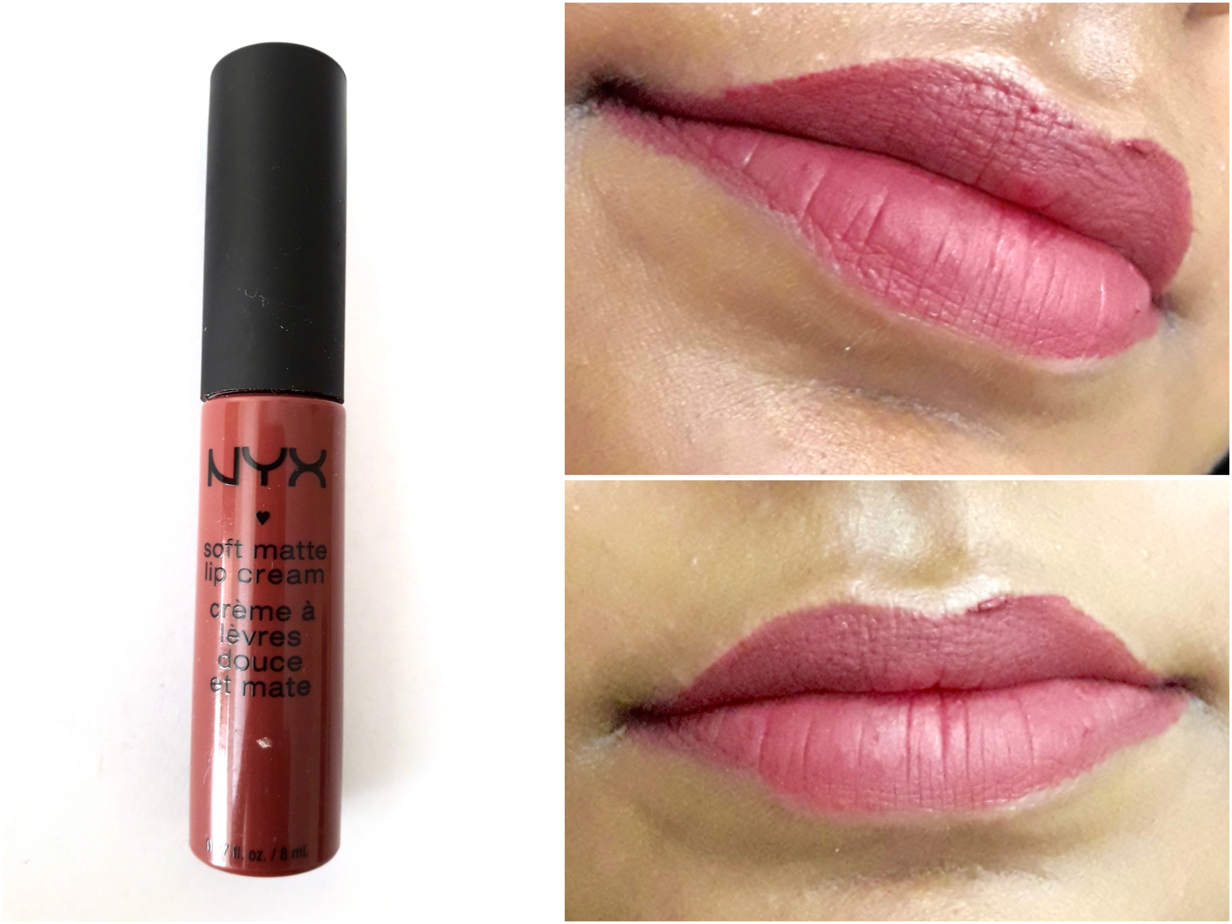 Nyx Soft Matte Lip Cream Budapest Review Swatches