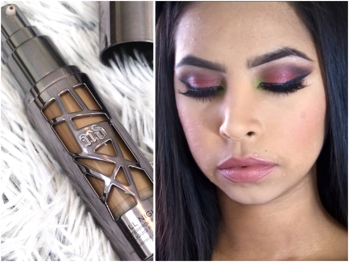 Urban Decay All Nighter Liquid Foundation Review Swatches Demo MBF Makeup Look
