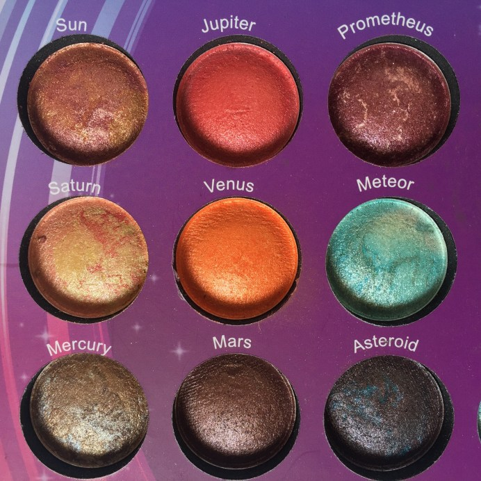 BH Cosmetics Galaxy Chic Baked Eyeshadow Palette Review Swatches 2
