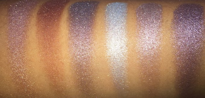 BH Cosmetics Galaxy Chic Baked Eyeshadow Palette Review Swatches Mercury Mars Asteroid Electra Moon Pluto with flash