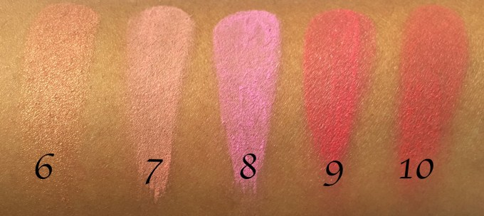 BH Cosmetics Glamorous Blush 10 Color Palette Review Swatches 2nd Row MBF