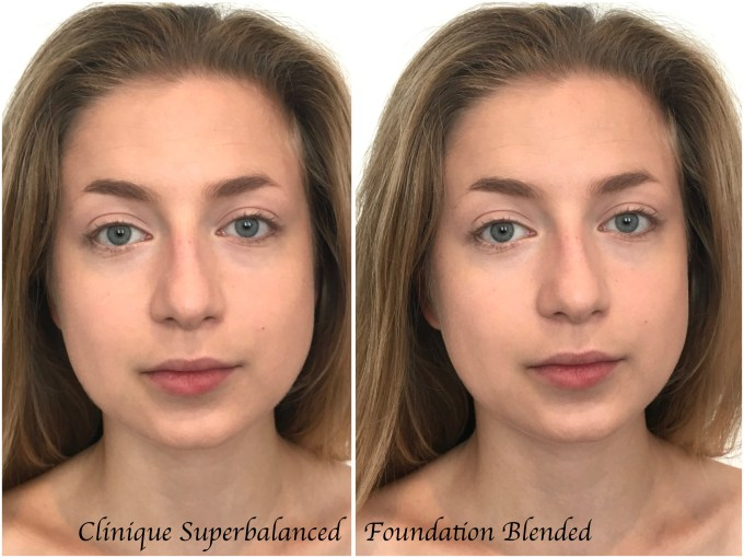 Clinique Superbalanced Makeup Foundation Review Swatches Demo Foundation Blended