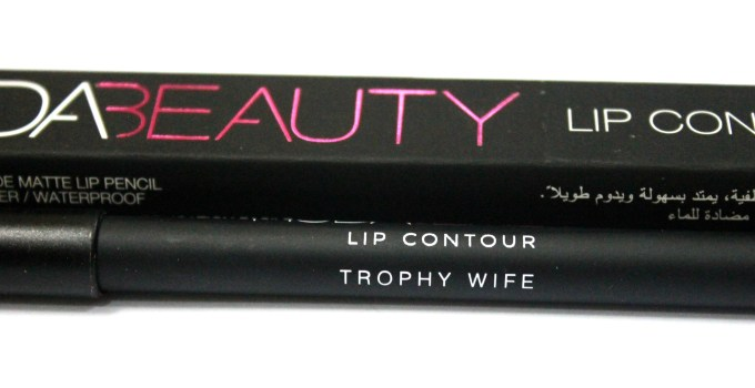 Huda Beauty Lip Contour Matte Pencil Trophy Wife Review Swatches near