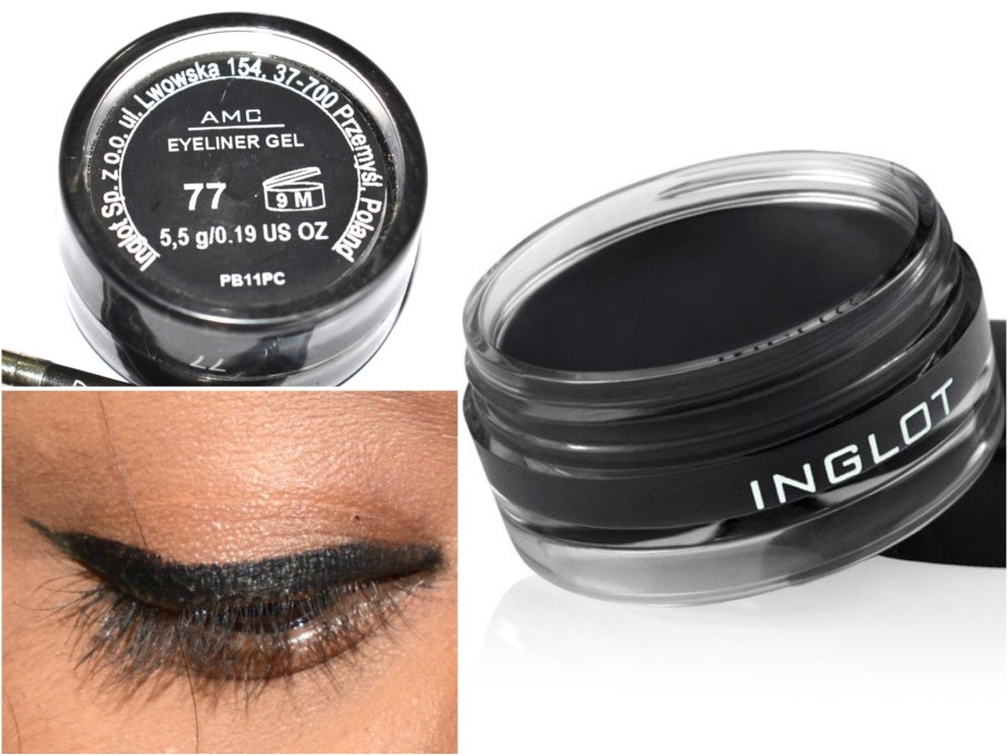 Inglot AMC Eyeliner Gel 77 Matte Black Review Swatches MBF