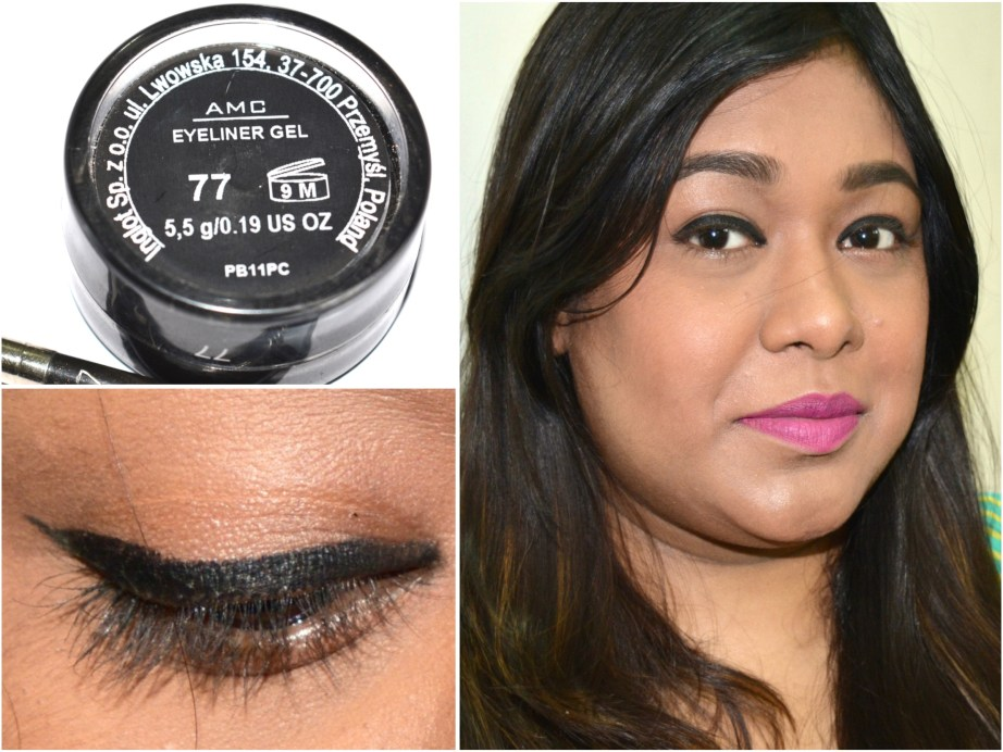 Inglot AMC Eyeliner Gel 77 Matte Black Review Swatches