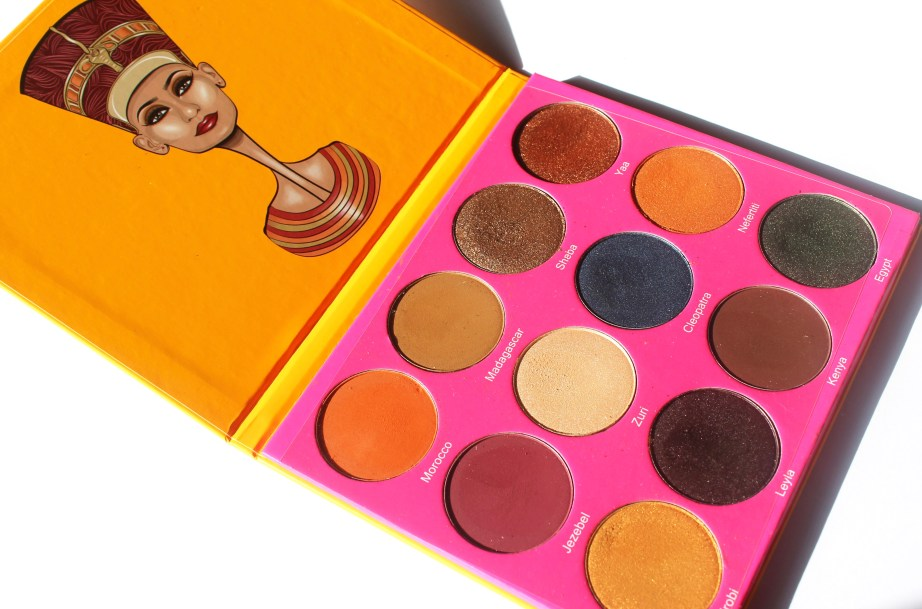 Juvia's Place Nubian 2 Yellow Eye Shadow Palette Review Swatches MBF Blog