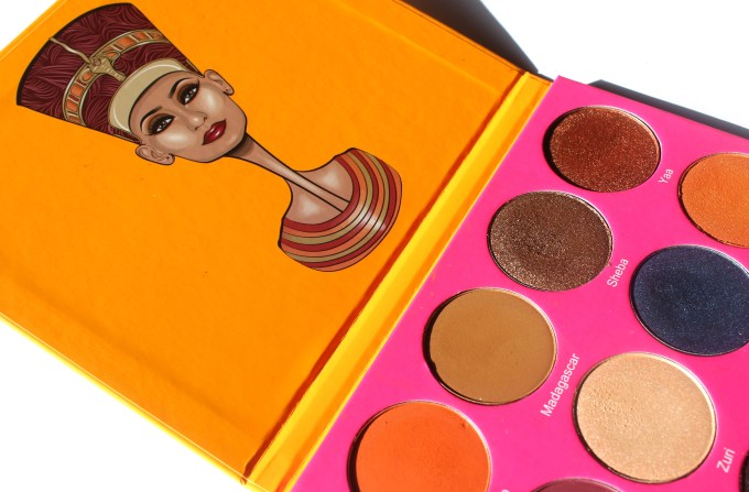 Juvia's Place Nubian 2 Yellow Eye Shadow Palette Review Swatches Morocco Madagascar Sheba Yaa Jezebel Suri Cleopatra Nefertiti Nairobi Leyla Kenya Egypt MBF