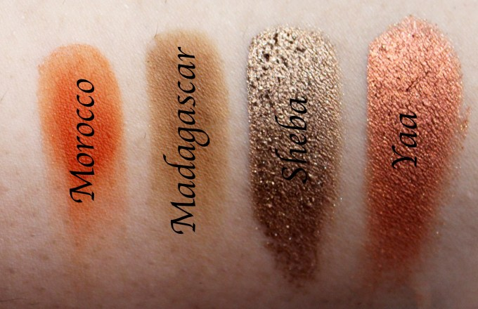 Juvia's Place Nubian 2 Yellow Eye Shadow Palette Review Swatches Morocco Madagascar Sheba Yaa