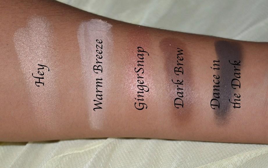 MAC Eyeshadow x 15 Warm Neutral Palette Review Swatches Hey Warm Breeze Gingersnap Dark Brew Dance in the Dark 1st Row