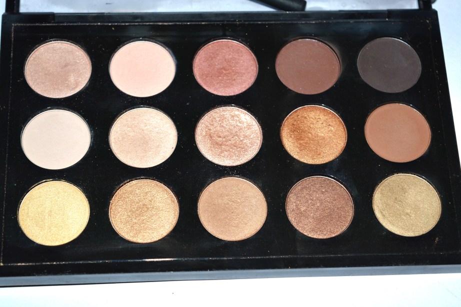 MAC Eyeshadow x 15 Warm Neutral Palette Review Swatches focus