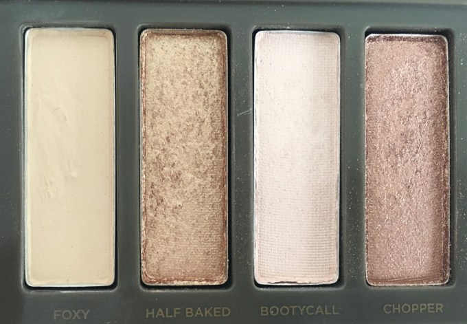 Urban Decay Naked 2 Eyeshadow Palette Review Swatches closeup foxy half baked bootycall chopper