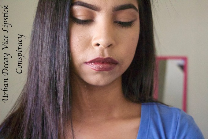 Urban Decay Vice Lipsticks Conspiracy Review Swatches MBF Makeup Look