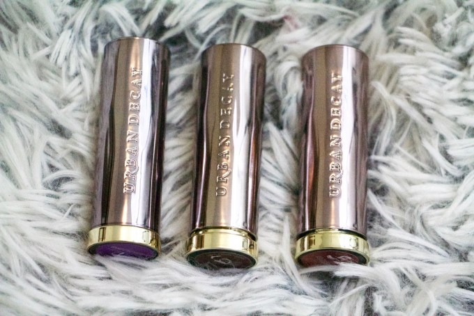 Urban Decay Vice Lipsticks Pandemonium Conspiracy Rock Steady Review Swatches MBF Blog