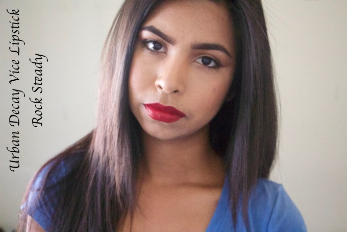 Urban Decay Vice Lipsticks Rock Steady Review Swatches MBF Makeup Look