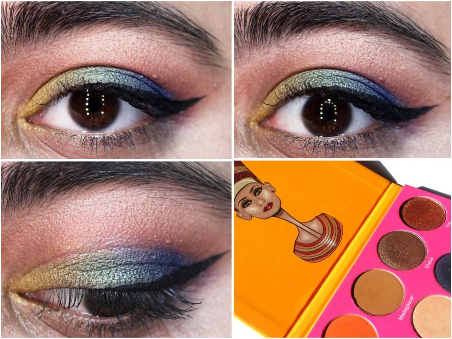 Juvia's Place Nubian 2 Yellow Eye Shadow Palette Review Swatches Morocco Madagascar Sheba Yaa Jezebel Suri Cleopatra Nefertiti Nairobi Leyla Kenya Egypt
