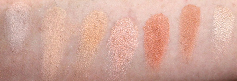 Morphe 35W 35 Color Warm Palette Review Swatches 1st Row