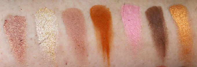 Morphe 35W 35 Color Warm Palette Review Swatches 2nd Row