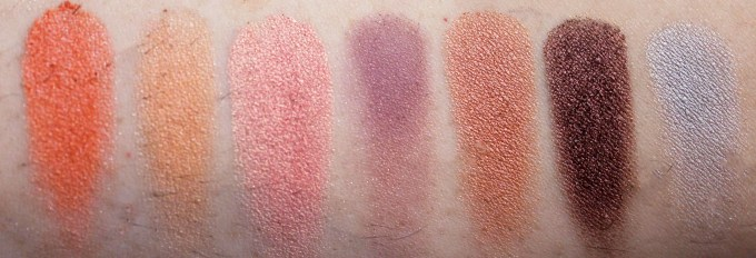 Morphe 35W 35 Color Warm Palette Review Swatches 3rd Row