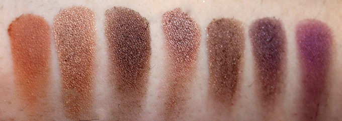 Morphe 35W 35 Color Warm Palette Review Swatches 4th Row