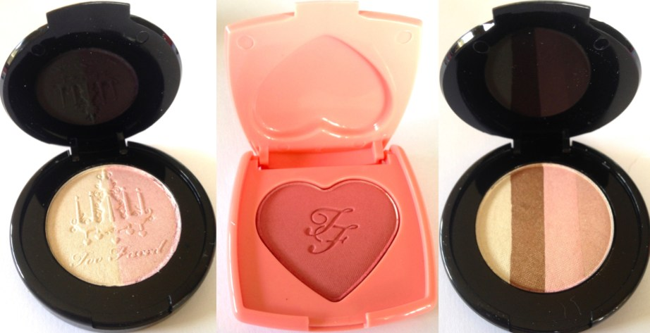 Too Faced Let It Glow Highlight and Blush Kit Review Swatches
