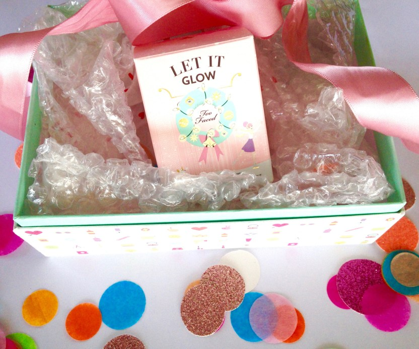 Too Faced Let It Glow Highlight and Blush Kit Review Swatches MBF