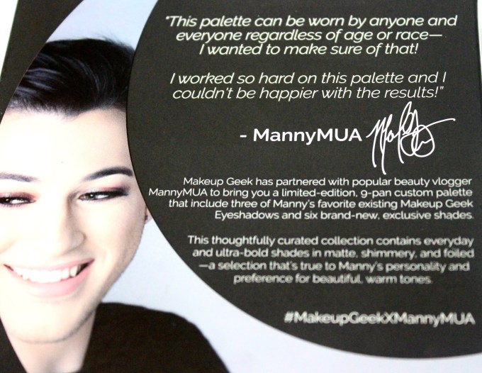 Makeup Geek Manny Mua Eyeshadow Palette Review Swatches 3