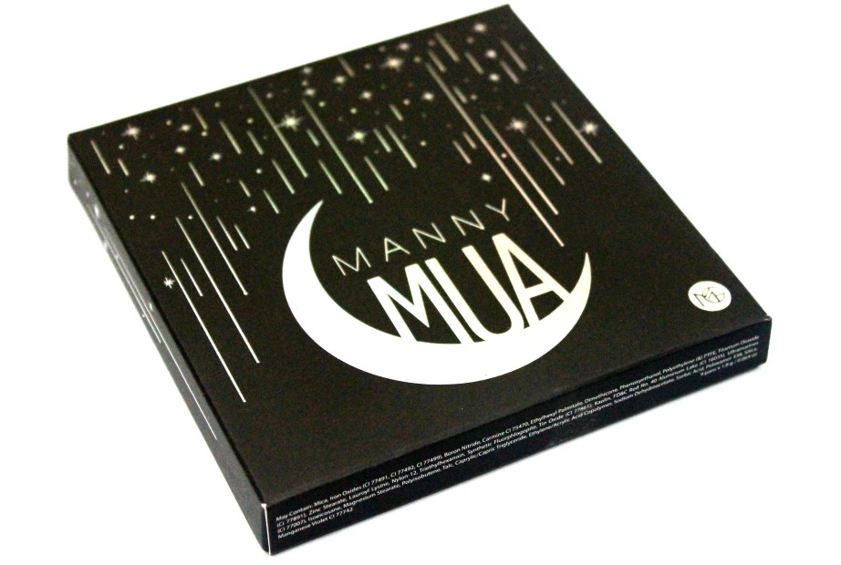 Makeup Geek Manny Mua Eyeshadow Palette Review Swatches packaging