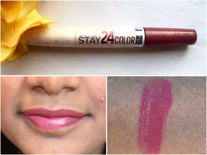 Maybelline Superstay 24 Color 2 Step Liquid Lipstick Very Cranberry 100 Review Swatches MBF Blog