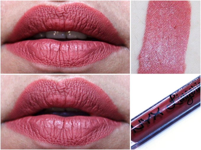 NYX Exotic Lip Lingerie Liquid Lipstick Exotic Review Swatches