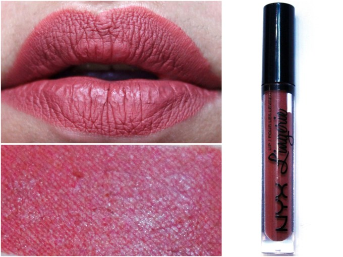 NYX Lip Lingerie Liquid Lipstick Exotic Review Swatches