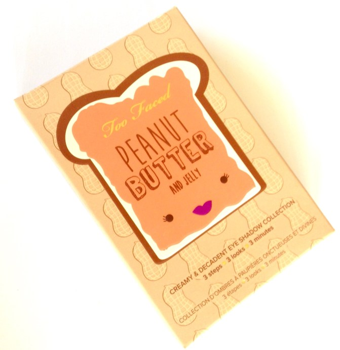Too Faced Peanut Butter & Jelly Eyeshadow Palette Review Box Front
