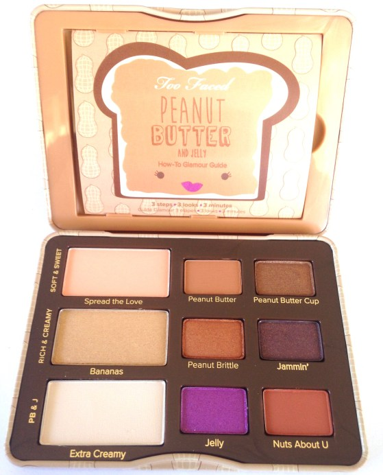 Too Faced Peanut Butter & Jelly Eyeshadow Palette Review Swatches Inside