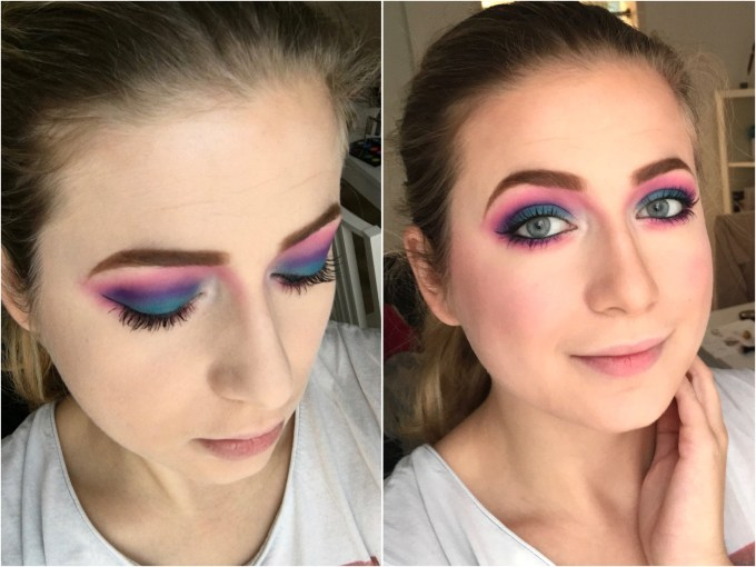 Urban Decay Electric Pressed Pigment Eyeshadow Palette Review Swatches MBF Makeup Look
